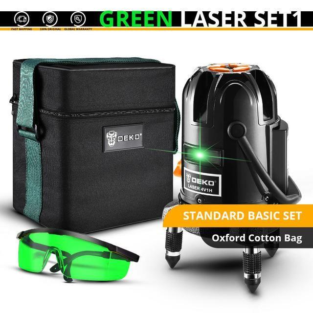 Deko 5 Lines 6 Points Laser Level Automatic Self Leveling 360 Vertical Horizontal Tilt Outdoor Mode Can Use W Receiver With Images Laser Levels Laser Green Laser
