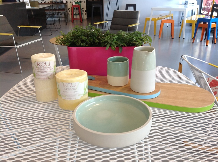Cone 11 ceramics, Ikou candles, Treehorn platters and Tait Softline mini planters - all made in Australia with love I Madebytait