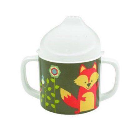 SugarBooger Sippy Cup What did the Fox Eat?, White