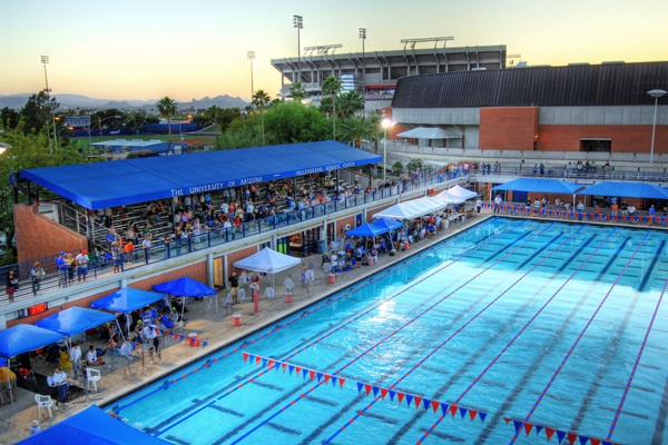 The Hillenbrand Aquatic Center / Mckale Pool at the University of Arizona. #BearDown #Arizona #UA