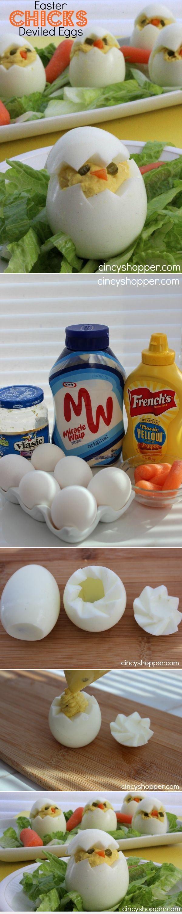DIY Easter Chicks Deviled Eggs