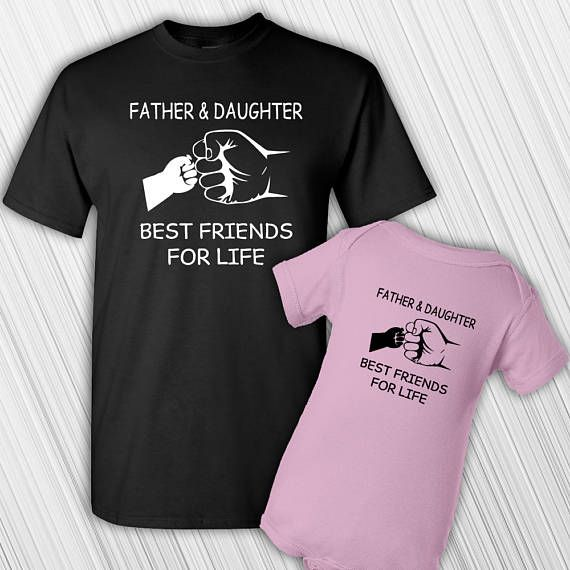 Father Daughter Gifts Part - 37: Father Daughter T Shirt Set Fathers Day Babyu0027s First