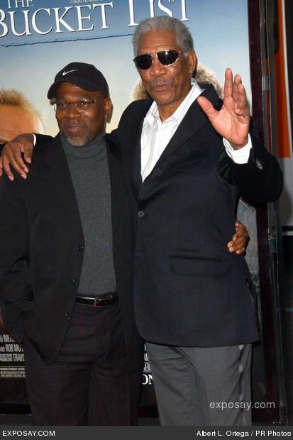 Morgan Freeman and his son, Alfonso...