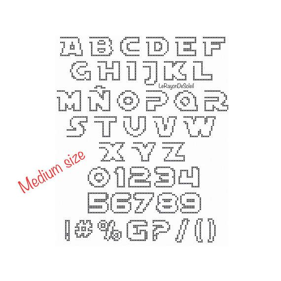Star Wars cross stitch alphabet pattern, set of 3