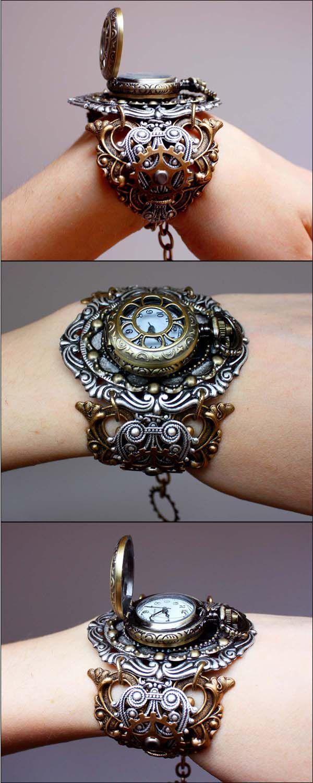 Locket wrist watch III by ~Pinkabsinthe on deviantART