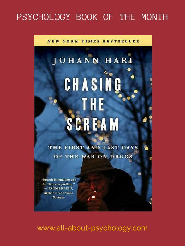 The All About Psychology website book of the month for July is - Chasing the Scream: The First and Last Days of the War on Drugs By Johann Hari. Click on image or see following link for details of this excellent book and all the previous book of the month entries. www.all-about-psychology.com/psychology-books.html     #psychology #PsychologyBooks