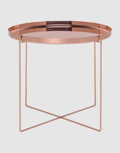 copper table: pure and minimal design | table . Tisch | furniture . Möbel . meubles | Design: Philipp Mainzer for e15 |