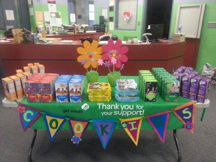 girl scout cookie booth decorations | 720px