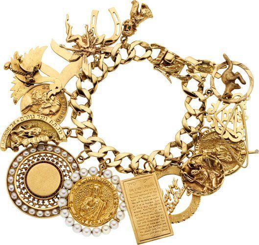 Estate Jewelry:Bracelets, Diamond, Sapphire, Garnet, Cultured Pearl, Gold Charm…