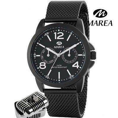 Reloj Marea colección del cantante Manuel Carrasco para hombre. Cadena esfera diseño malla y caja color negro. Mecanismo multifunciones. ENVIO GRATIS http://ift.tt/2EiCO9N #relojhombre #reloj #ManuelCarrasco #cantante