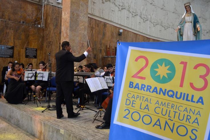Presentación Orquesta Sinfónica Metropolitana. Celebra la Música - Barranquilla. Crédito Secretaría de Cultura de Barranquilla.