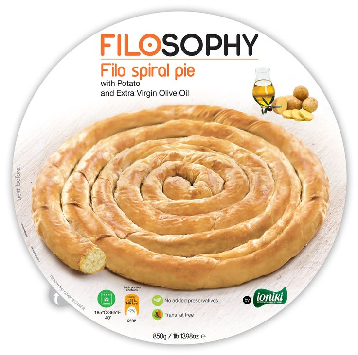 There's nothing like a crispy pie with a smooth and creamy filling, that simply melts in the mouth. Our new spiral pie, kneaded with extra virgin olive oil and filled with the best tasting mashed potatoes, is a delicious savory treat for any time of a day that will definitely please all members of the family. Also suitable for vegetarians. Enjoy!