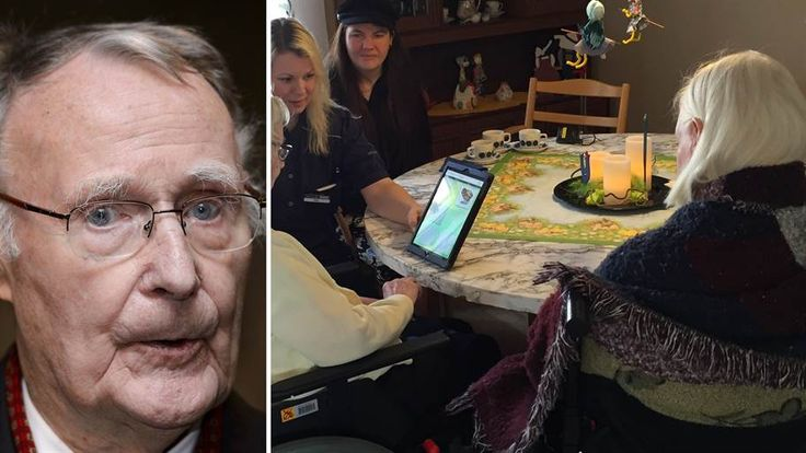 Ingvar Kamprad gav 500 surfplattor till de äldre i Småland   Dina pengar