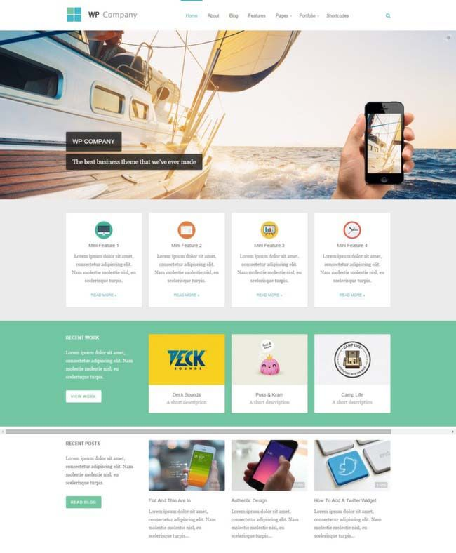 134 best Corporate WordPress Themes images on Pinterest | Website ...