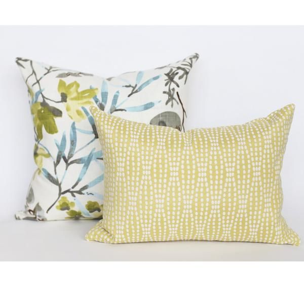A pretty, woven citrus yellow fabric with creamy white dots in a soft, organic striped pattern.Perfect for upholstery, throw pillows, cushions, roman blinds and