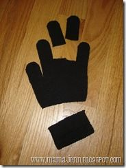 """Doll mittens - First, cut off two fingers of the mitten and cut off the wristband part. At this point, you have your doll mittens and earmuffs (which can double as a headband.) The fingers that you cut are the gloves and the wristband is the earmuffs.  Then you can make them """"fancy"""" by adding small embellishments or felt/foam pieces.  PERFECT for 18"""" dolls & too use  up left lost gloves:)"""