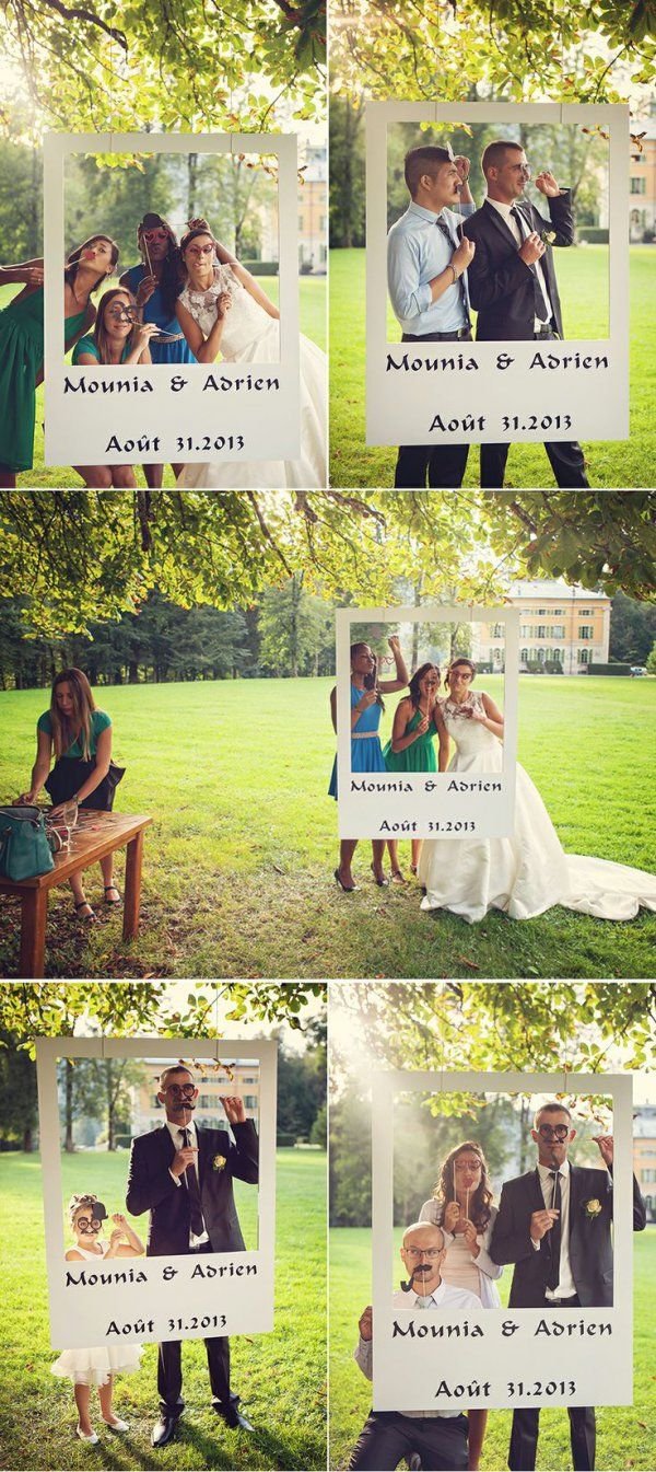 Imitacja fotobudki! Ciekawy pomysł na zdjęcia swoje i gości!