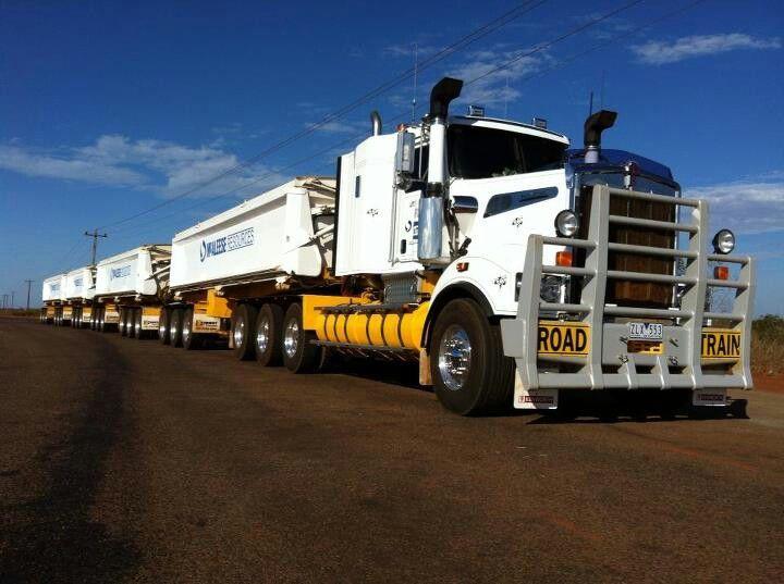 Road train. #trucks #transport #roadtrain - HTXINTL