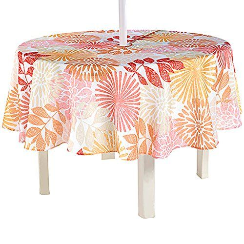 Kaylee Floral 70 Round Zippered Umbrella Fabric Tablecloth Weighted Hem  Newbridge Http://www. Outdoor UmbrellaTableclothsUmbrellasPatio