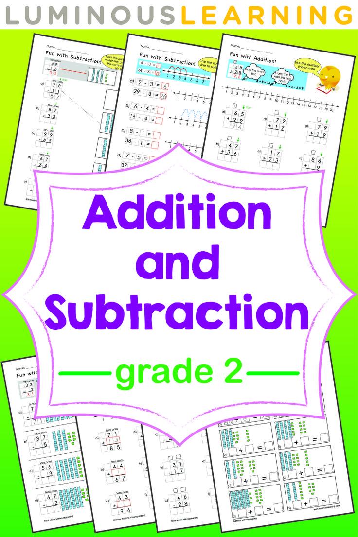 grade 2 addition and subtraction e workbook making math. Black Bedroom Furniture Sets. Home Design Ideas