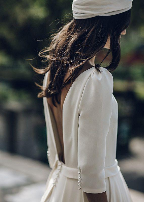 15 vestidos de novia de manga larga que te enamorarán