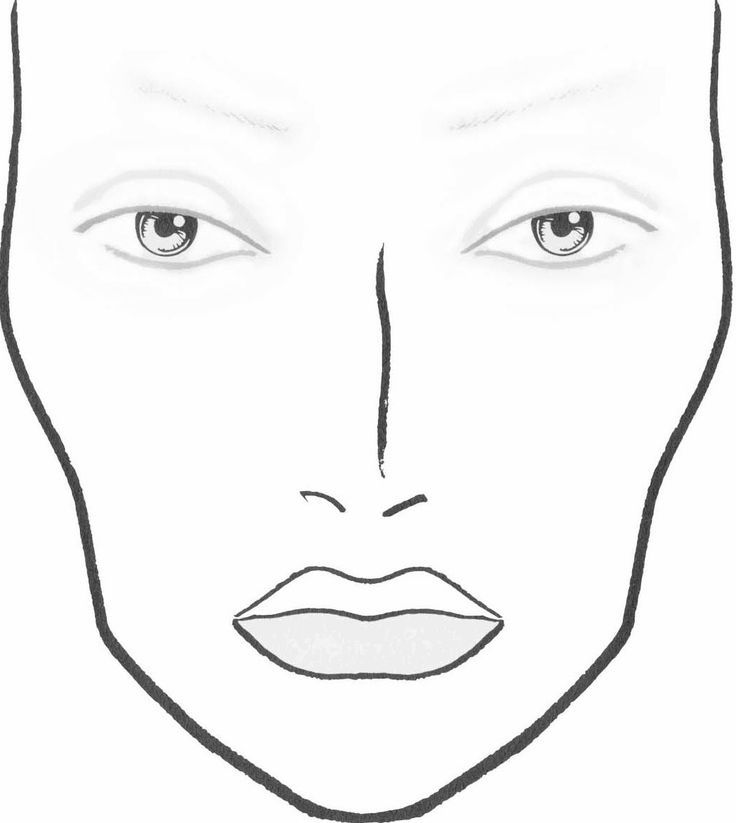 Blank Face Charts Blank Face Template For Makeup                                                                                                                                                                                 More