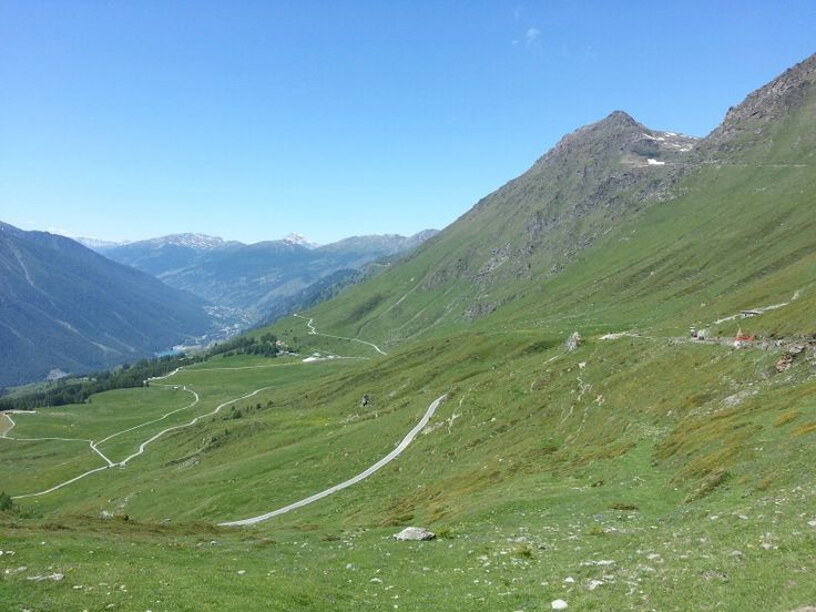 Colle delle Finestre - vista sul pian dell'Alpe lato Val Chisone, Piemonte - Italy