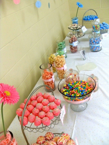 Baby Shower Sweets Table Sprinkled With Love