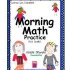 Morning Math for First Graders  Use for morning math work, homework, review teacherspayteachers