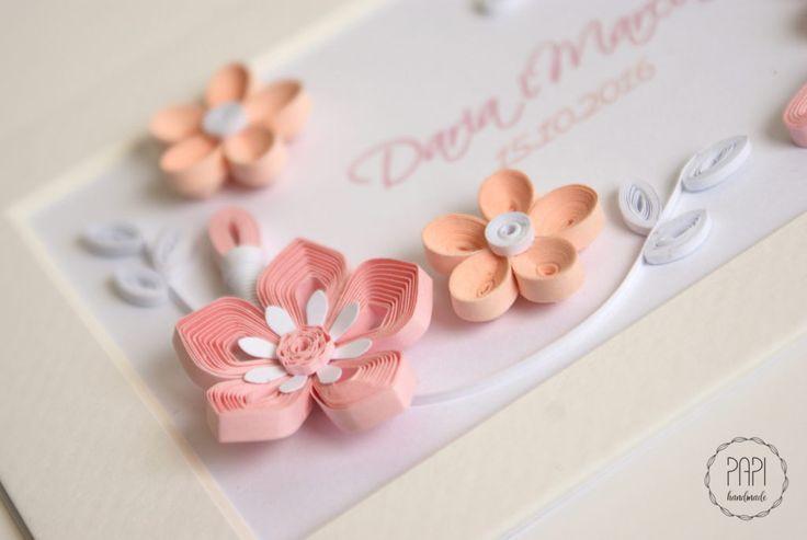 quilling zaawansowane kwiaty ślub