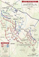 Gettysburg - Devil's Den and Little Round Top Battle map