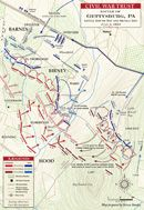 Gettysburg - Devil's Den and Little Round Top Battle map