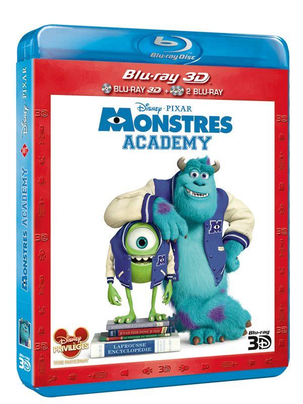 "Pixar-Planet.fr   Le Blu-Ray 3D de ""Monstres Academy"".http://pixar-planet.fr/blu-ray-3d-monstres-academy/"