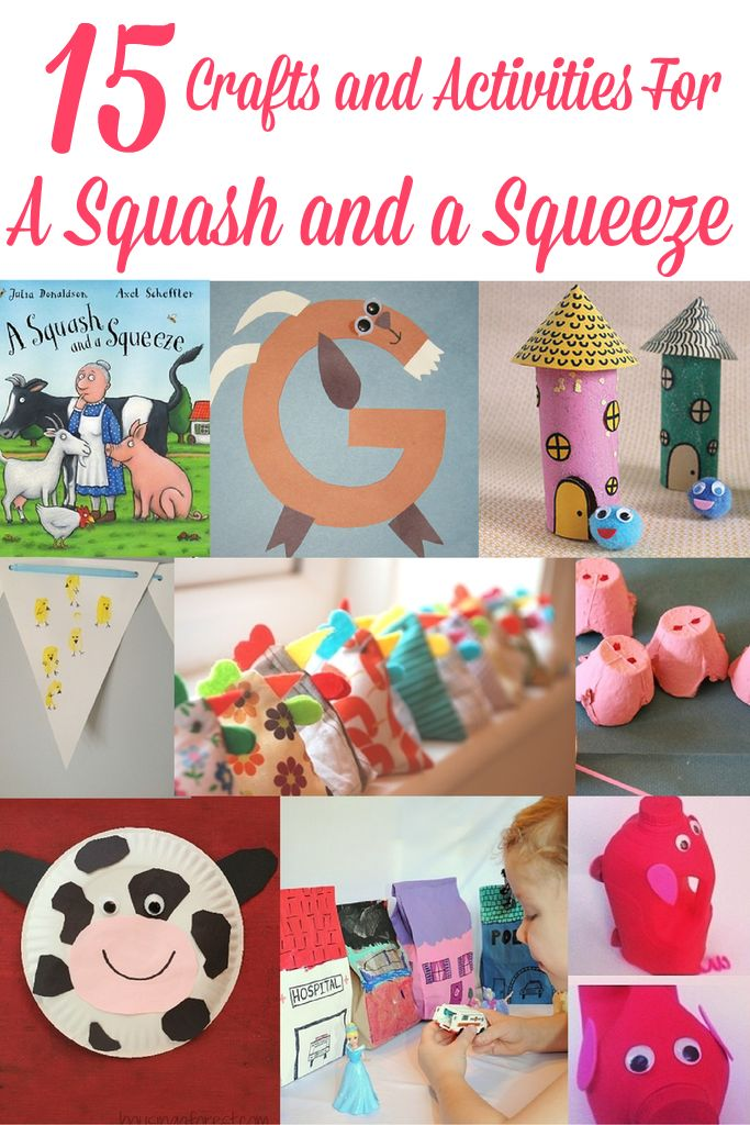A Squash and a Squeeze - Crafts and Activities to do with the book by Julia Donaldson.