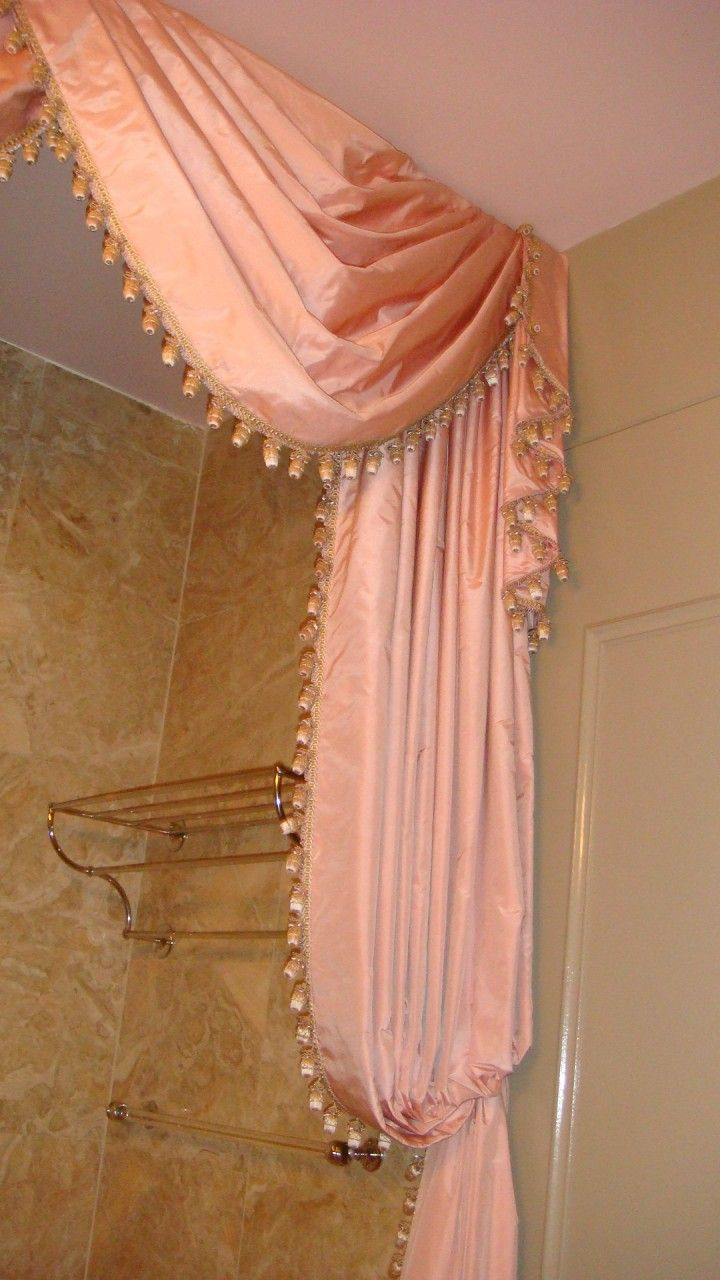 Swags Amp Tails Curtain Luxury Shower Curtain Luxury