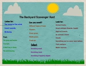 How to Plan the Ultimate Backyard Scavenger Hunt: Backyard Scavenger Hunt