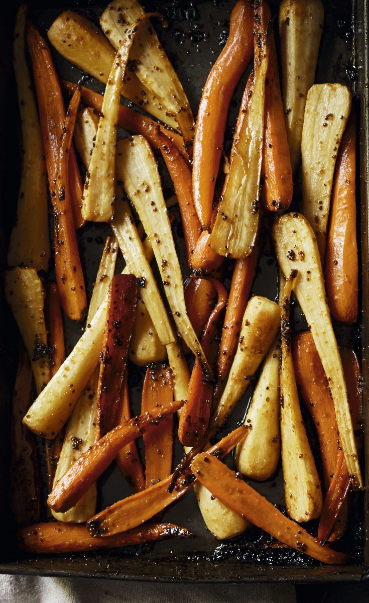 Roast parsnips and carrots with a deliciously sticky maple glaze. Find this recipe and more on the Waitrose website.