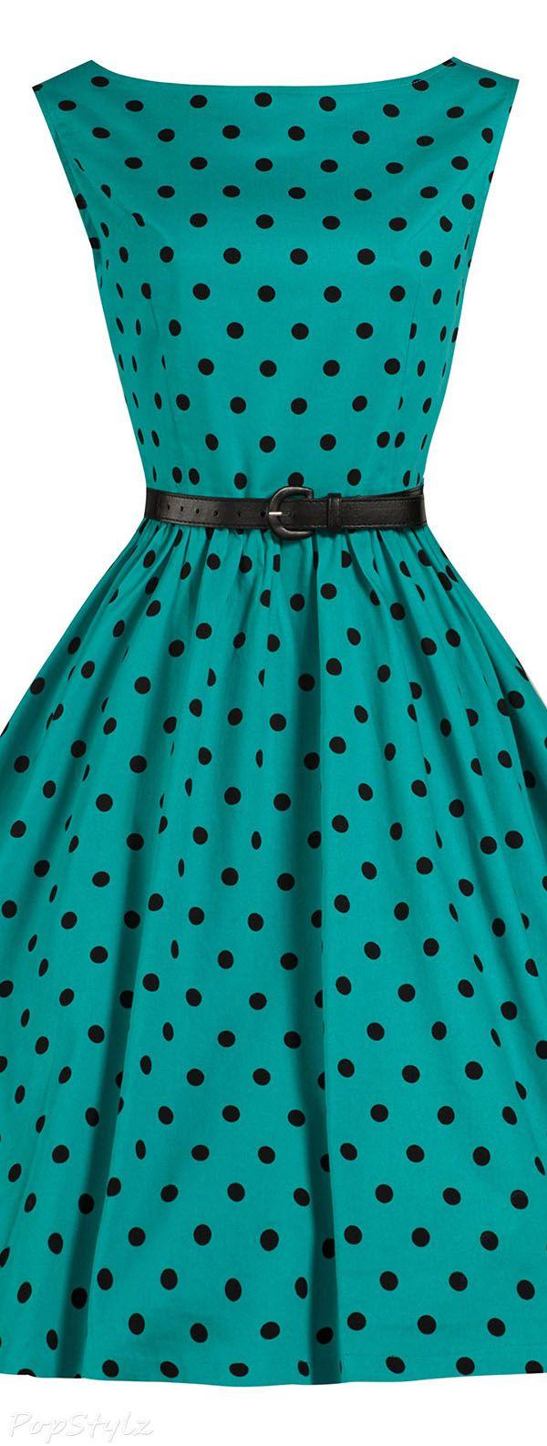 Polka Dot Vintage 1950's Swing/Jive Dress