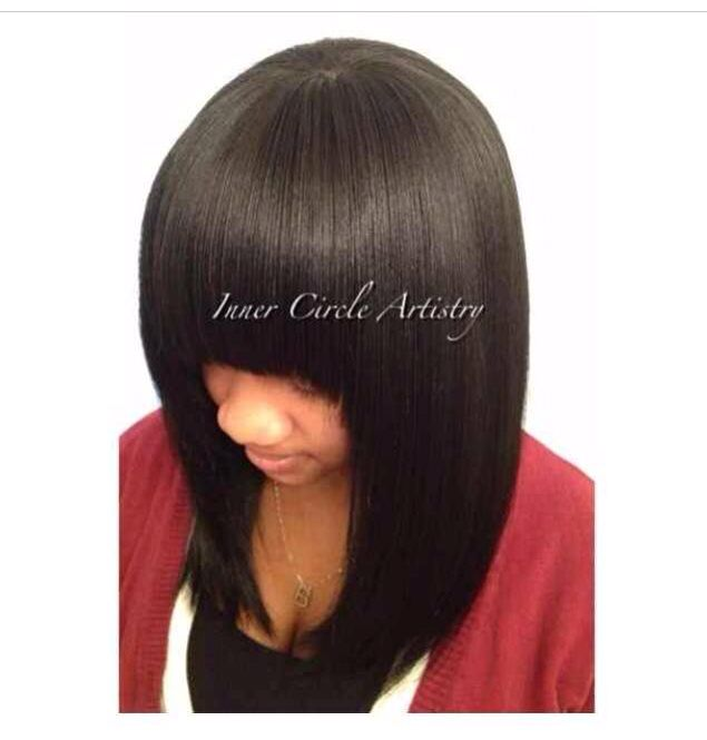 Flawless Full Bang Sew-In by Natalie B. ---call or text me at 708-675-9351 to schedule your appointment!   INSTAGRAM: Natalie Jost Jost Jost Birdsong ...