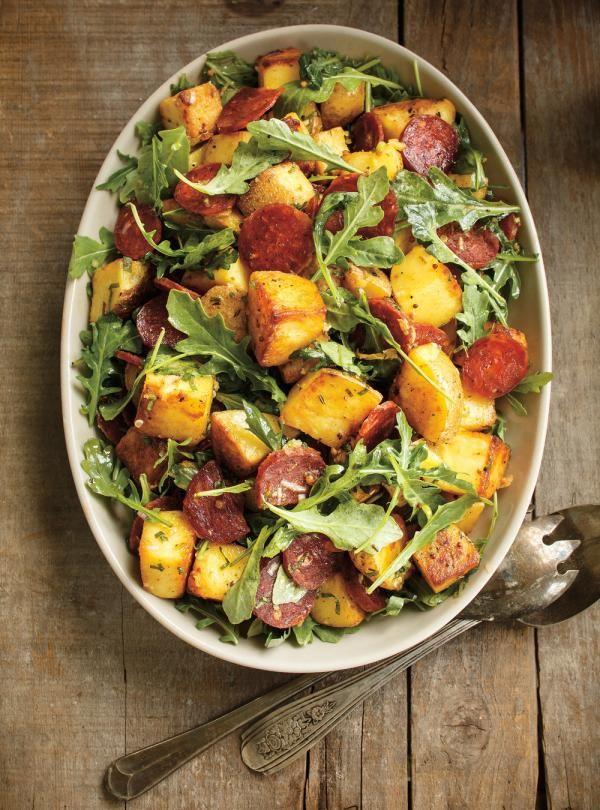 Recette de Ricardo de salade de pommes de terre grillées