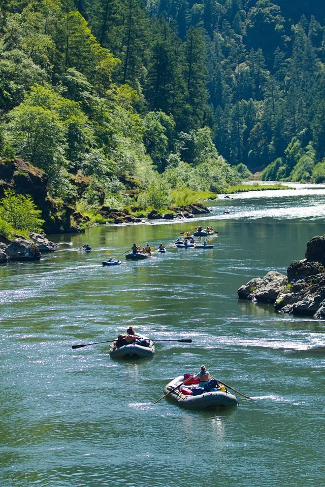 River rafting down Oregon's Rogue River on inflatable rafts #cataractoars #extremeoars #rafting - since we couldn't raft in DC, lets raft in oregon! suoer pretty areas as well