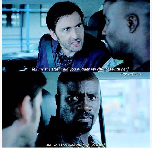 """""""Did you bugger any chances with Jessica?"""" - Kilgrave and Luke Cage #JessicaJones"""
