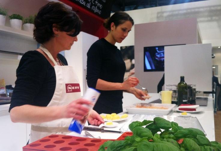 Chefs at work @ Eurocucina Stand Neff
