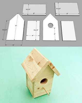 5 DIY Birdhouses Free Plans And Ideas #woodworking                              …