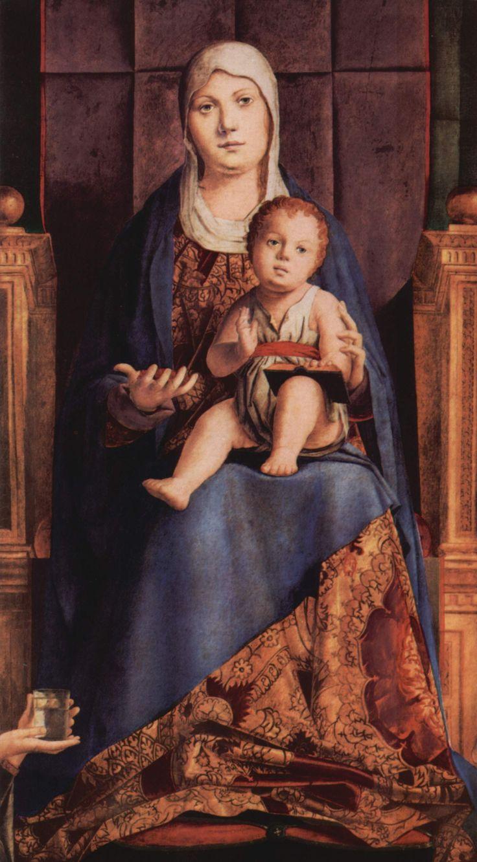 ANTONELLO da Messina San Cassiano Altar détail