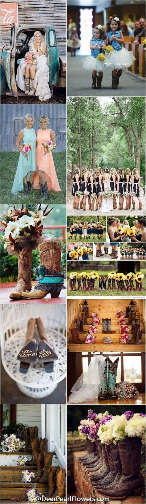 40 Rustic Country Cowgirl Boots Fall Wedding Ideas. http://www.deerpearlflowers.com/cowgirl-boots-fall-wedding-ideas/