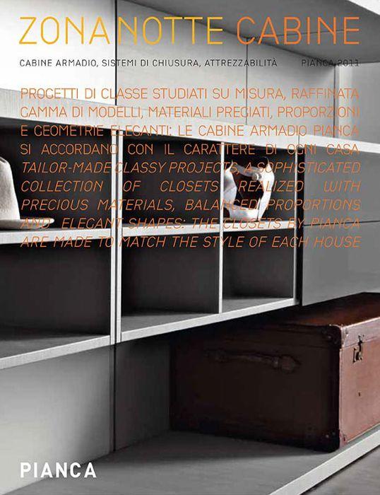 Catalogo CABINE ARMADIO | WALK-IN-CLOSET catalogue | PIANCA | www.pianca.com