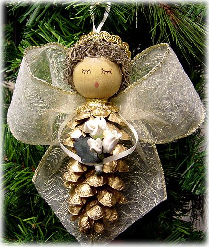 Pinecone angel...wonder if can make this?