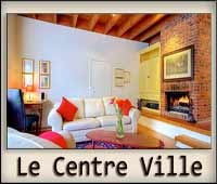 Downtown Montreal short term rentals. Style, comfort, space. Fireplace. 2 bedrooms.