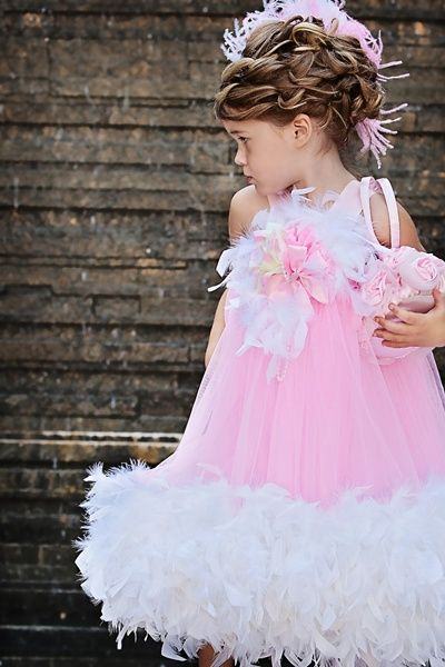@Little Girls, Pageants Dresses, Kids Fashion, Feathers Dresses, Special Occa Dresses, Kids Clothing, Pink Princesses, Flower Girls, Pageant Dresses